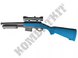 M47A1 BB Gun UTG Replica Tactical Pump Action Spring Airsoft Shotgun 2 Tone Blue Black